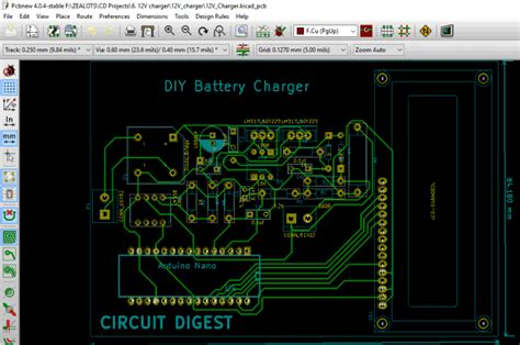 pcb layout software kicad 12v battery charger circuit diagram using lm317 12v power
