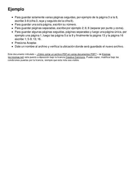 cortar un pdf como cortar un archivo pdf en varios documentos pdf