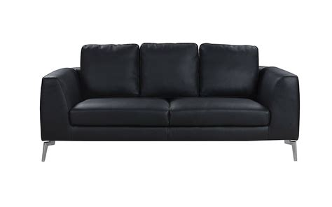 plush leather sofa santiago mid century modern plush leather sofa sofamania com