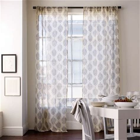 Paisley Window Curtains Silk Paisley Window Panel West Elm Eclectic Curtains By West Elm