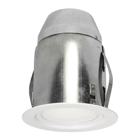 Installing Pot Lights In Insulated Ceiling Bazz 4 13 In White Recessed Lighting Fixture Designed For