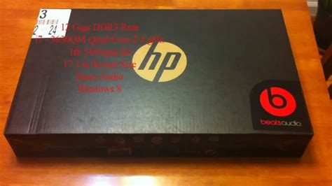 Box Hp pre box unboxing of the hp envy dv7 i7 3630qm