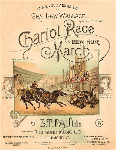 Chariot A 1893 by The Chariot Race Or Ben Hur March