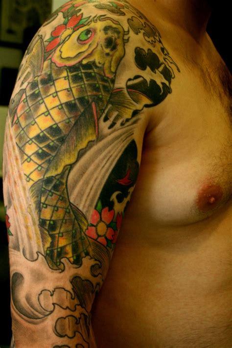 tattoo hand koi koi fish free hand face tattoo tattoos by fer colombo