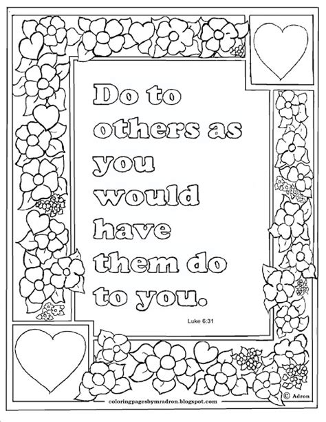 Luke 6 Coloring Pages by Coloring Pages For By Mr Adron Luke 6 31 Print And