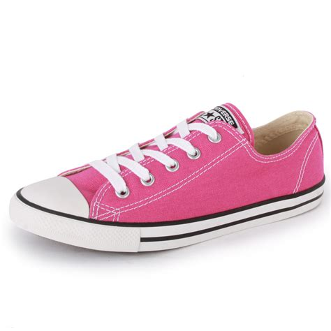 converse chuck dainty ox womens canvas trainers