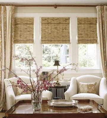 bamboo shades and curtains bamboo blinds with curtains house pics pinterest