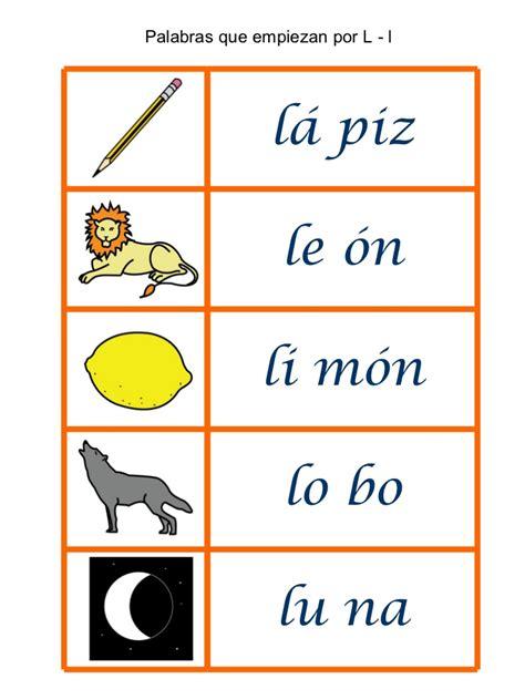 imagenes que empiezen con la letra l palabras que empiezan por 5 en una hoja para loat p t m r
