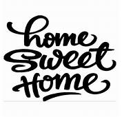 Home Sweet Quote Motto Bedroom And Living Room Wall