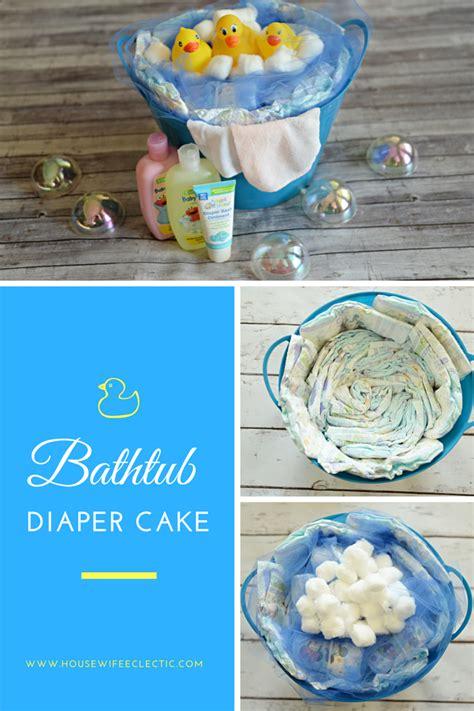 how to make a bathtub diaper cake bathtub diaper cake housewife eclectic