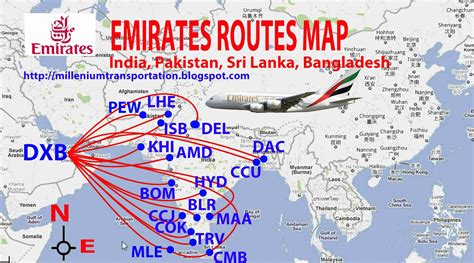 Emirates New Routes | airlines central emirates routes map
