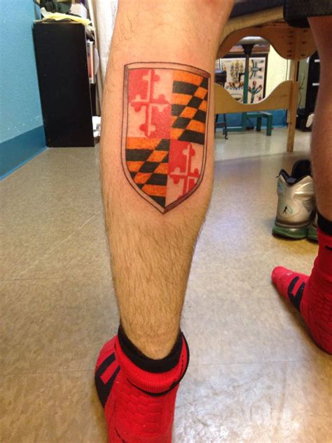 maryland flag tattoo maryland flag tattoos