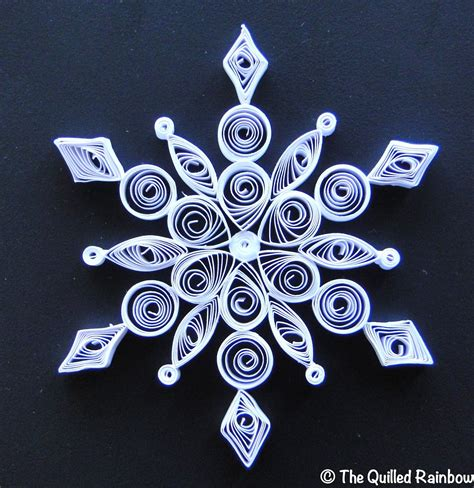 snowflake patterns quilling the quilled rainbow quilled snowflake
