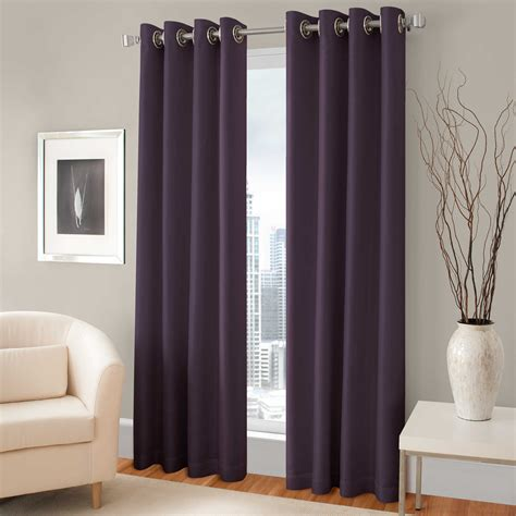 curtains for wall covering pretty purple room darkening curtains with silver rods on