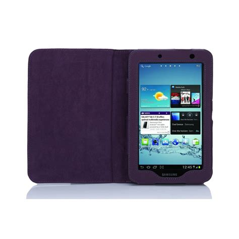 Casing Samsung Tab 2 multi function leather stand for samsung galaxy tab 2 7 0 p3100 purple from rm
