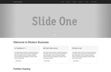 bootstrap layout business free bootstrap site theme modern business from start