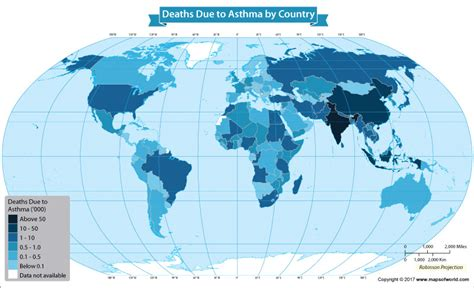 death rate  people  asthma rising   world