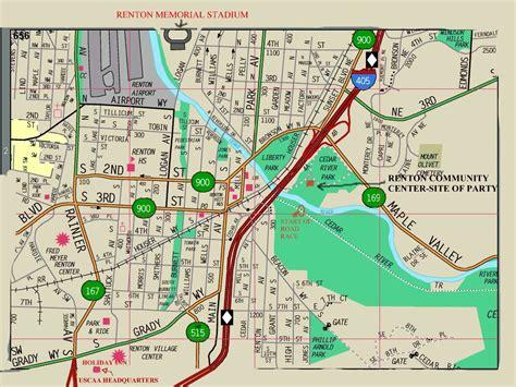 seattle map renton renton map