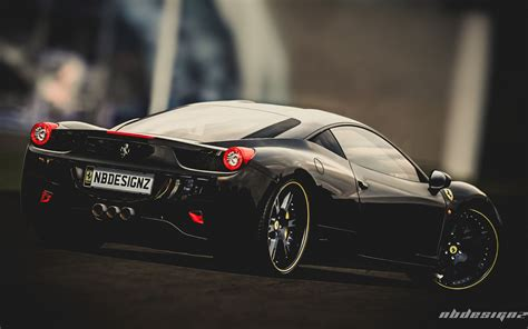 wallpaper black ferrari flat black ferrari wallpaper image 225