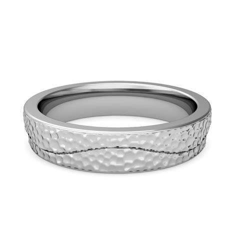 Wedding Ring Wave Design by Unique Mens Wedding Band Wave Design Wedding Ring In Gold