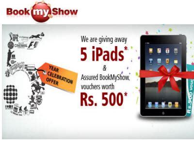 bookmyshow voucher free rs 500 bookmyshow voucher when you buy 5 tickets