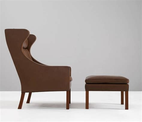 Brown Wingback Chair by B 248 Rge Mogensen Brown Leather Wingback Chair Denmark