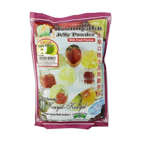 Grass Jelly Powder jaya grocer happy grass apple flavour konnyaku jelly