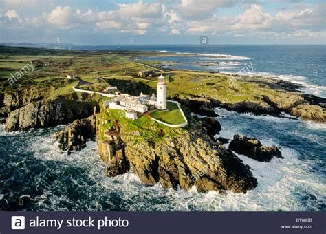 houses to buy donegal fanad head lighthouse county donegal ireland on the atlantic coast stock photo