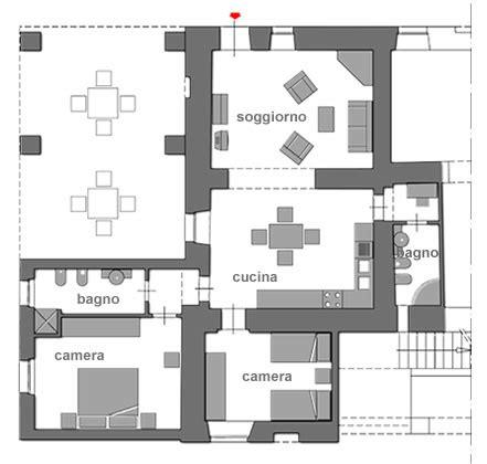 pianta soggiorno pianta soggiorno una casa con passaggi ridimensionati e