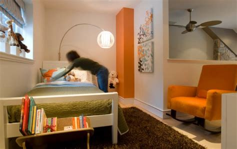 green and orange bedroom decorating with orange accents inspiring interiors