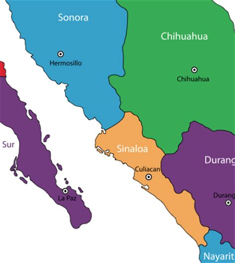 map of mexico sinaloa sinaloa mexico mazatlan culiacan tourist cities mexico