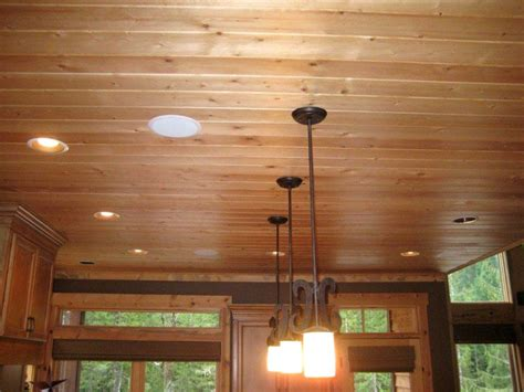 Pine Ceiling Panels by Knotty Pine Kitchen Ceiling D Kitchen Idea
