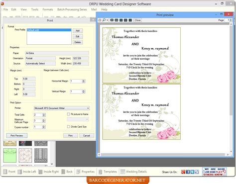 Wedding Card Generator by Screenshots Of Wedding Card Generator Software Helps To