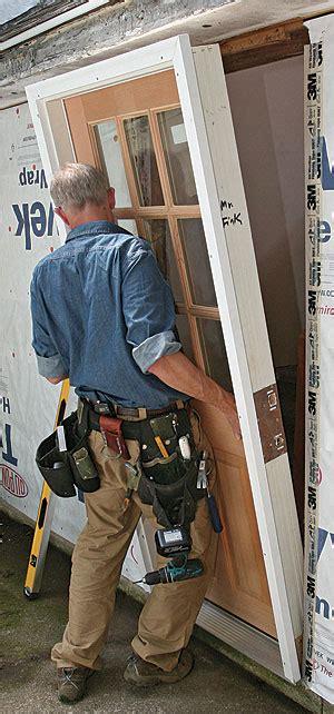 install  prehung exterior door fine homebuilding