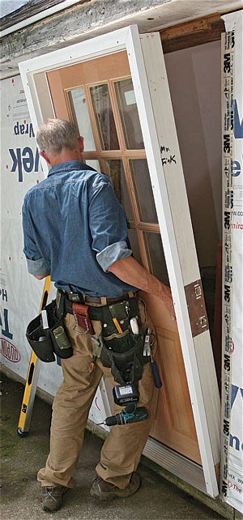Exterior Door Installation by Install A Prehung Exterior Door Homebuilding