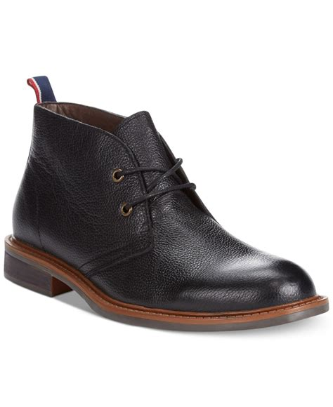 hilfiger boots hilfiger stoneham2 chukka boots in black for lyst