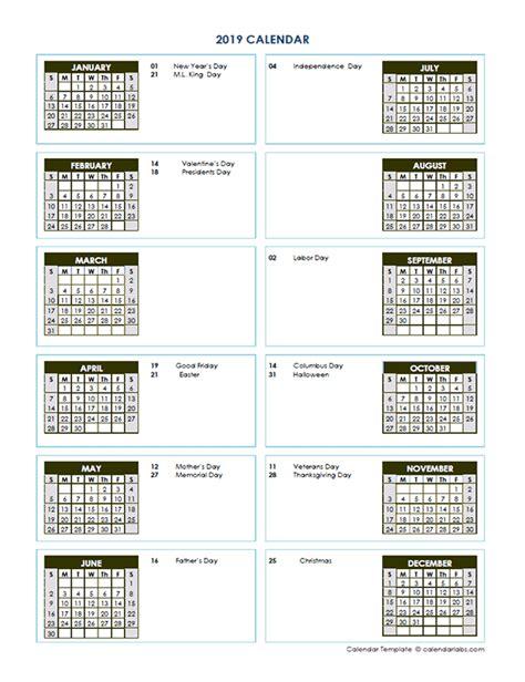 yearly calendar template vertical design  printable templates