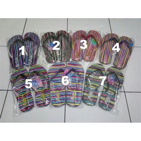 sandal jepit cewek ando rainbow warna warni murah shopee indonesia