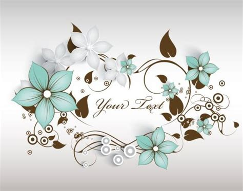 Decorative Curls by Decorative Flower Curls Design Vector Background 09
