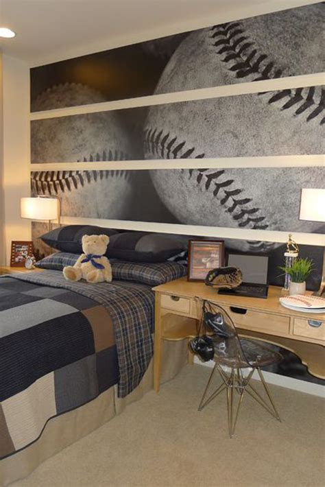 baseball bedroom wallpaper 25 modern boys room with sport themes home design and interior