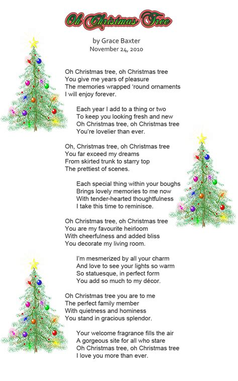 christmas tree poems for children it s all about november 2011