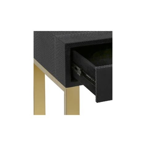 black end table with drawer black 1 drawer faux snakeskin end table