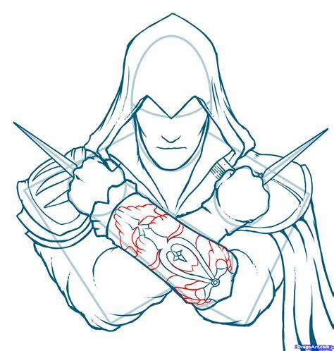 hiw to draw draw ezio assassins creed ezio step by step drawing