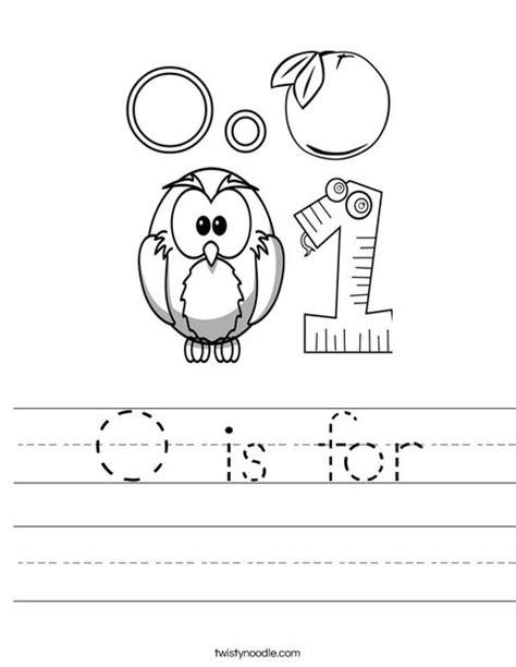 letter o worksheets o is for worksheet twisty noodle 1376