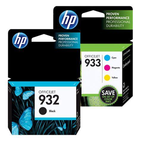 Tinta Hp 933 Xl Yellow Cn058an genuine hp 932 933 color ink cartridge 4 pack includes 1 each of cn057an cn058an cn059an