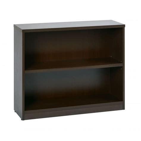 2 Shelf Bookcase Espresso office lbc361230 esp two shelf bookcase in espresso
