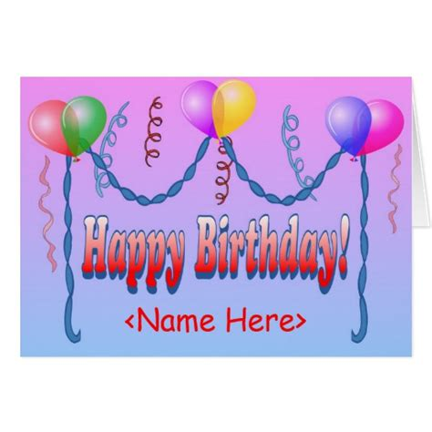 bday card templates happy birthday template card zazzle