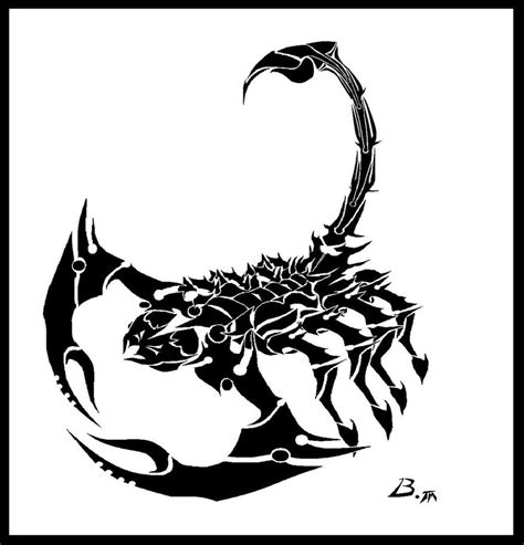 tribal scorpion tattoo designs tribal scorpion by babeskull16 on deviantart