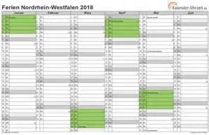 Kalender 2018 Ferien Thüringen Zum Ausdrucken Ferien Nordrhein Westfalen 2018 Ferienkalender Zum