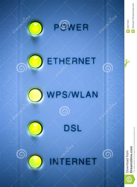 modem internet light off internet modem light stock image image 23277351